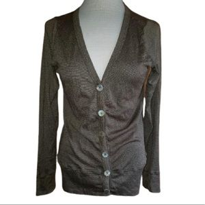 Michael Stars OS Gold Brown Cardigan Sweater Women